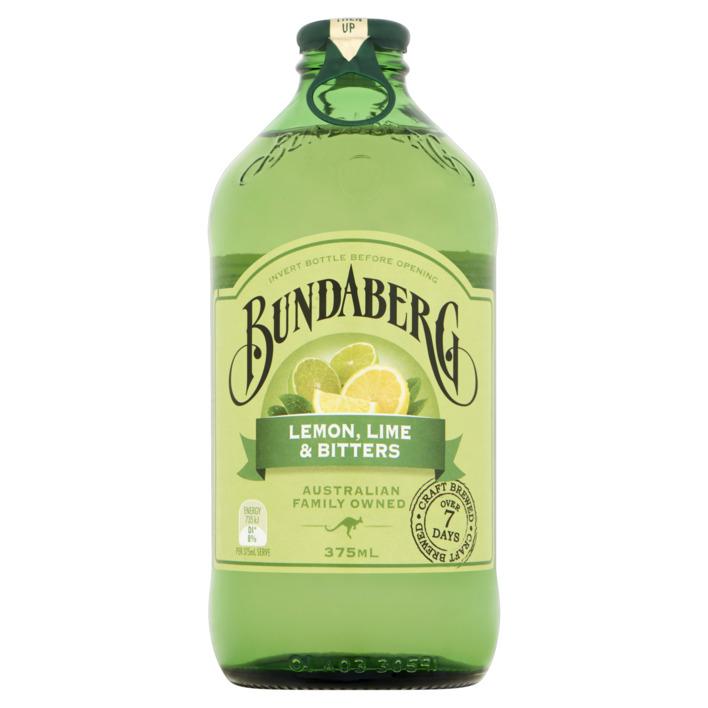 Bundaberg Lemon Lime en Bitters flesje 375ml wijny.nl