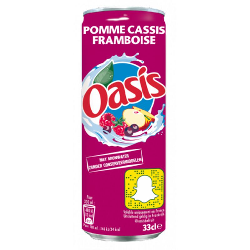 Oasis Appel Cassis Framboos Blik Tray