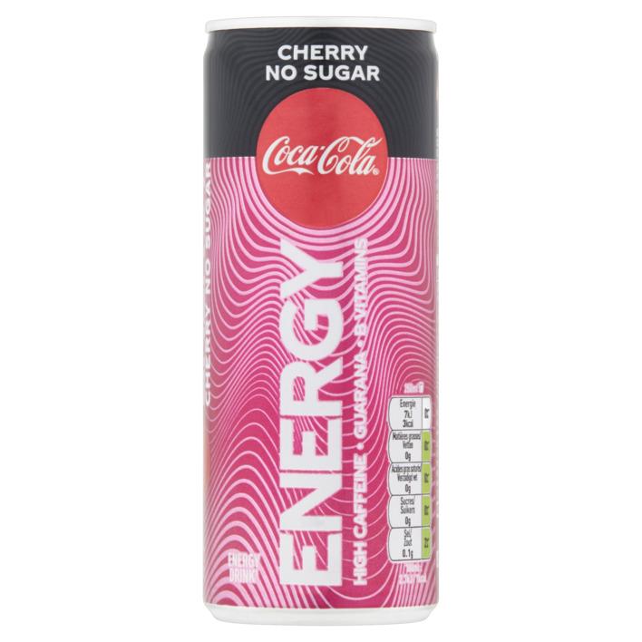 Coca Cola Energy Cherry No Sugar 1/2 Tray